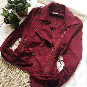• NWOT Purple Moto Jacket •